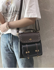 Fashion Black Contrast Shoulder Bag