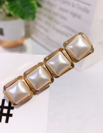 Fashion Gold (4 Pieces) Square Hairpin