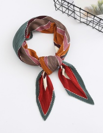 Fashion Color Geometric Pattern Chiffon Crepe Scarf