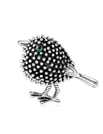 Fashion Silver Alloy Drop Oil And Diamond Bird Brooch