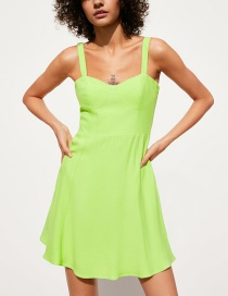 Fashion Fluorescent Green Sling Dress