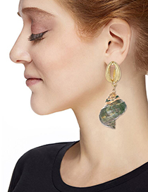 Fashion Gold Alloy Shell Conch Earrings