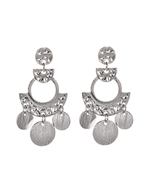 Fashion Silver Alloy Geometry Earrings