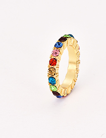 Fashion Dark Color Alloy Diamond Ring
