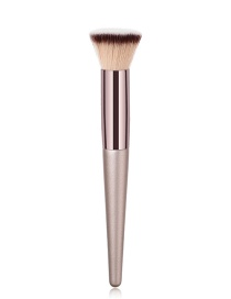 Fashion Champagne Gold Pvc-single-champagne Gold-coffee Tube-high-end-flat Brush