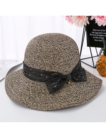 Fashion Coffee Color Flower Line Pot Cap