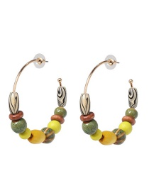 Fashion Yellow Wooden Earrings