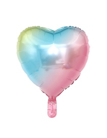 Fashion 18 Inch Heart Shaped Gradient Balloon Aluminum Foil Balloon