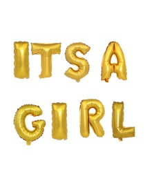 Fashion Golden It Sa Girl 16 Inch Letter Foil Balloon