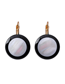 Fashion Round Section Geometric Pearl Shell Earrings
