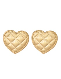 Fashion Gold Alloy Square Love Earrings