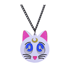 Fashion White Cat Necklace