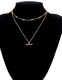 Fashion Gold Square Multi-layer Chain Necklace