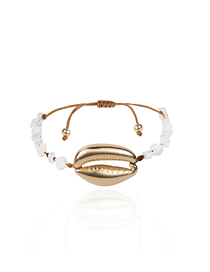 Fashion White Shell Natural Stone Alloy Adjustable Bracelet