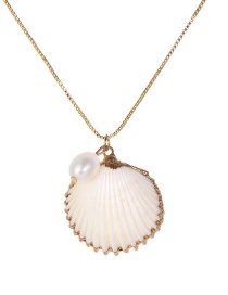 Fashion Gold Copper Pearl Shell Necklace