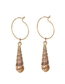 Fashion Gold Alloy Small Snail Earrings