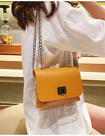 Fashion Light Brown Transparent Diagonal Scorpion Female Shoulder Bag