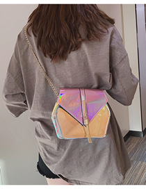 Fashion Pink Transparent Laser Shoulder Messenger Bag