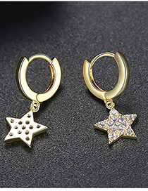 Fashion Gold Pentagonal Earrings