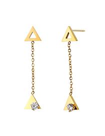 Fashion Gold Hollow Geometric Earrings