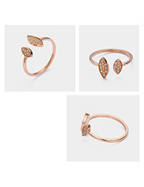 Fashion Rose Gold Adjustable Opening Diamond Ring