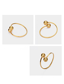 Fashion Gold Adjustable Ball Ring