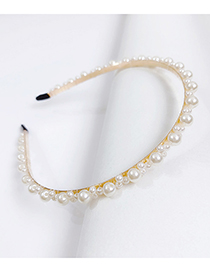Fashion B Alloy Pearl Headband