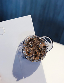 Fashion Gray Crystal Hair Clip