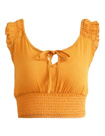 Fashion Yellow Butterfly Sleeve Camisole