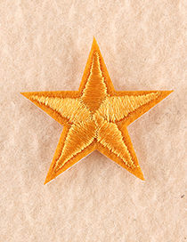 Fashion Red Embroidered Small Five-pointed Star Patch