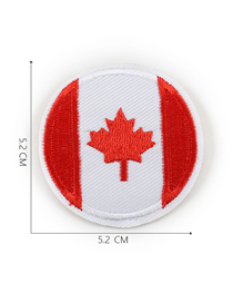 Fashion Red + White Embroidered Badge Patch