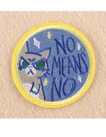 Fashion Color Embroidered Round Animal Avatar Badge Patch Sticker
