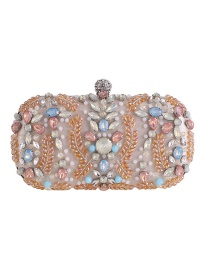Fashion Apricot Diamond-studded Clutch