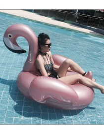 Fashion Rose Gold Flamingo Inflatable Row Riding Ring