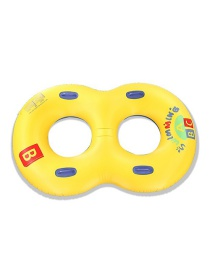 Fashion Abc Eight-word Swimming Ring Thickening Thick Inflatable Squawk Swimming Ring