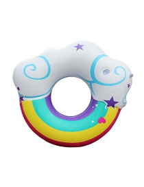 Fashion Cloud Swimming Ring Color Box Rainbow Cloud Swimming Ring With Cup Mouth