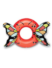 Fashion Red Three-dimensional Butterfly Swimming Ring