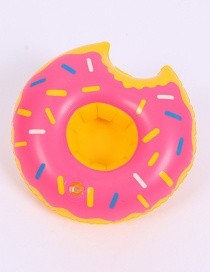 Fashion Donut Pink Cup Holder Inflatable Water Coaster