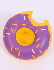 Fashion Donut Purple Cup Holder Inflatable Water Coaster