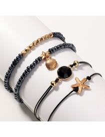 Fashion Color Shell Starfish Bead Bracelet