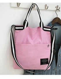 Fashion Pink Rivet Portable Messenger Bag