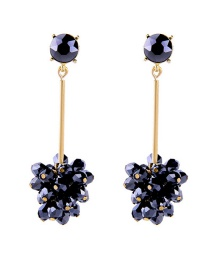 Fashion Black Diamond Stud Earrings