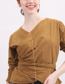 Fashion Copper Ring Electroplating Drip Key Necklace