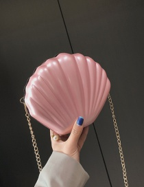 Fashion Pink Chain Shell Shoulder Bag