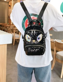 Fashion Black Eye Sequin Backpack