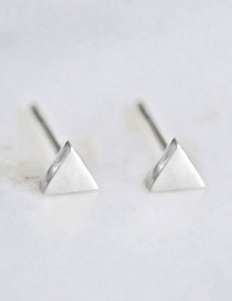 Fashion Steel Color Triangle Stainless Steel Gold-plated Earrings