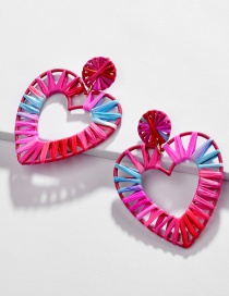 Fashion Color Hollow Section Dyed Colored Woven Earrings