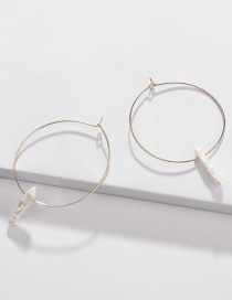 Fashion Gold Pearl Copper Ear Ring