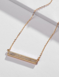Fashion Green Flash Stone Necklace