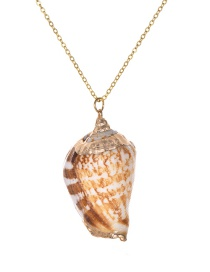 Fashion Gold Copper Chain Conch Necklace